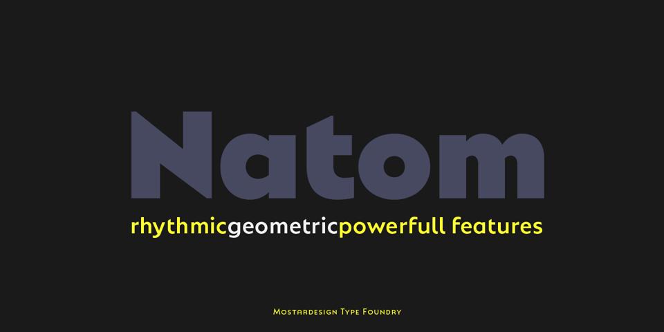 Natom Pro font page