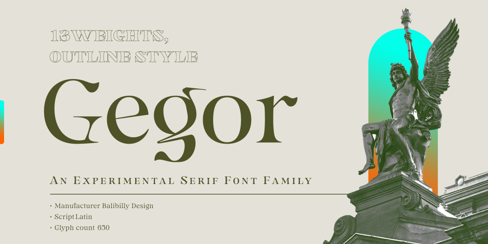 Gegor font page