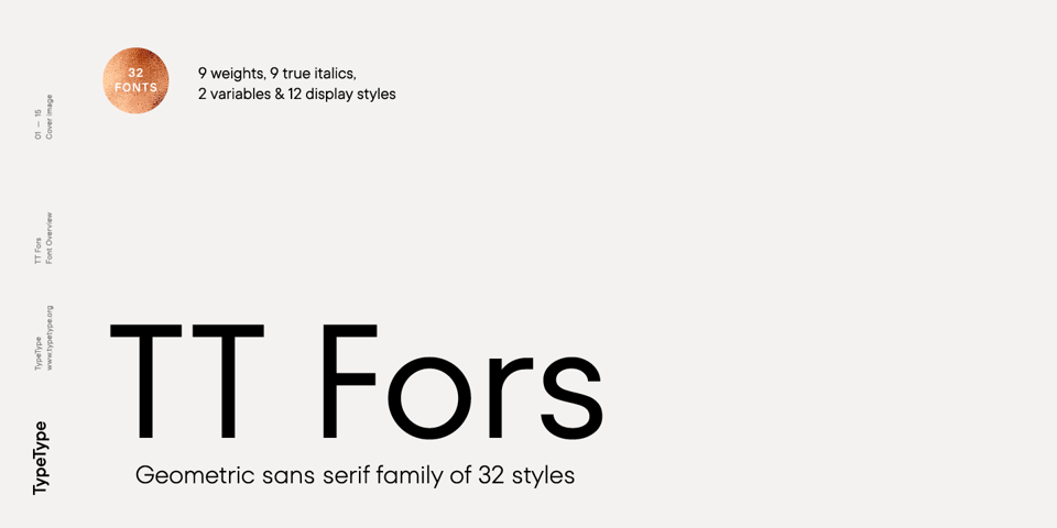 TT Fors font page