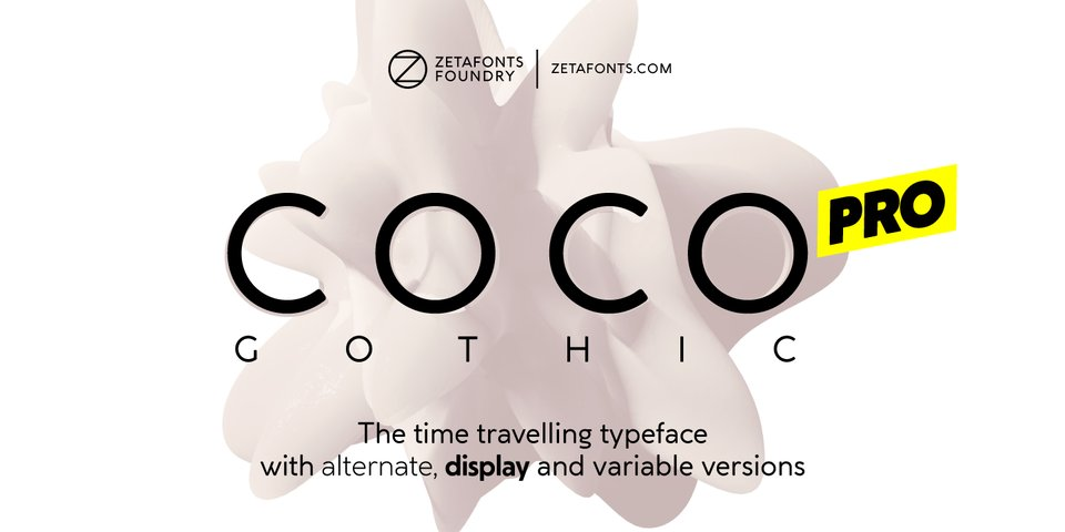 Coco Gothic Pro font page