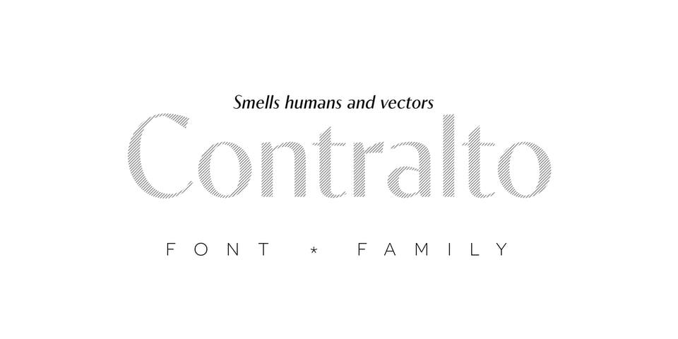 Contralto font page