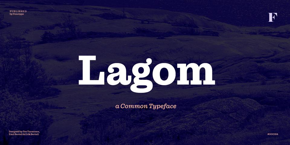 Lagom font page