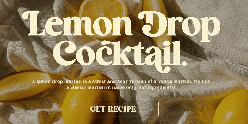 HV Cocktail font page
