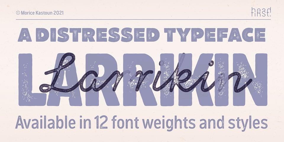 Larrikin font page