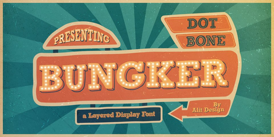 Bungker font page