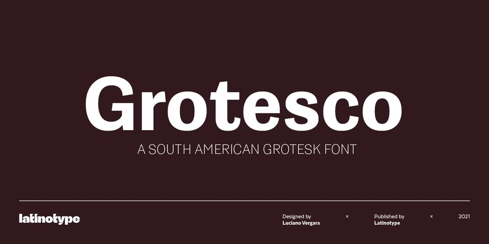 Grotesco font page