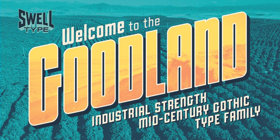 Goodland font page