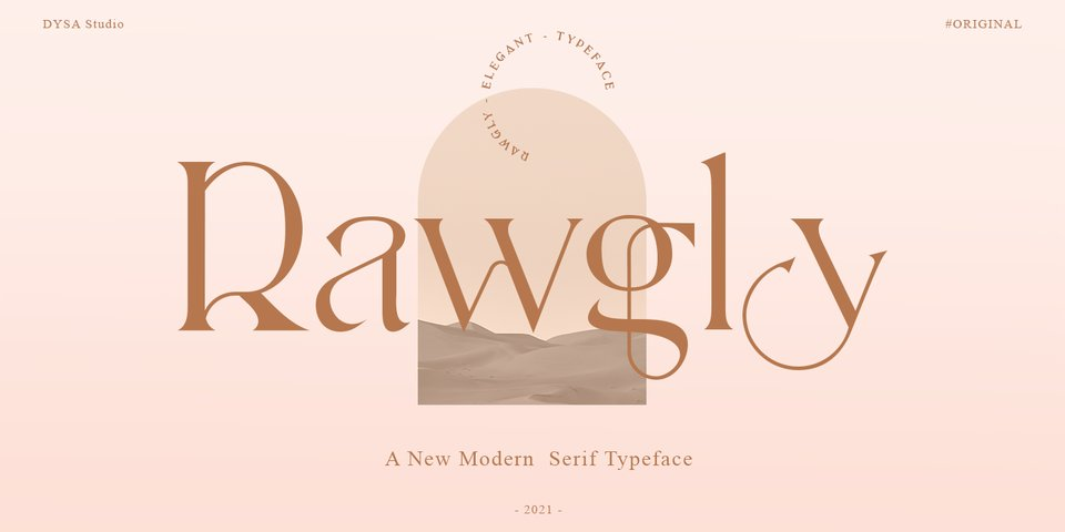 Rawgly font page