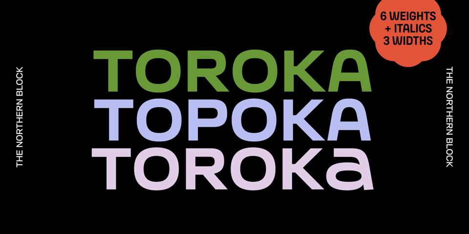 Toroka font page