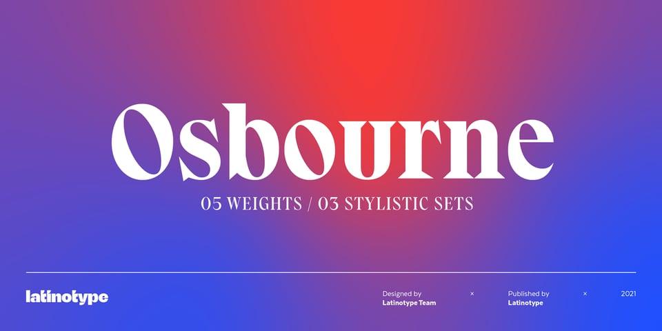 Osbourne font page