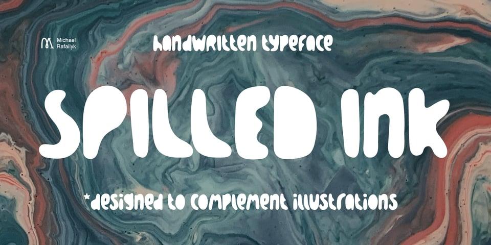 Spilled Ink font page