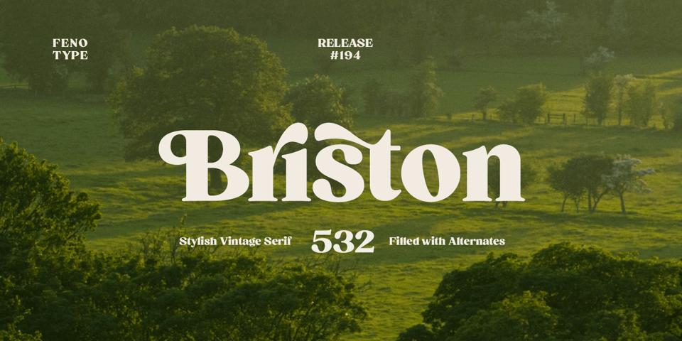 Briston font page