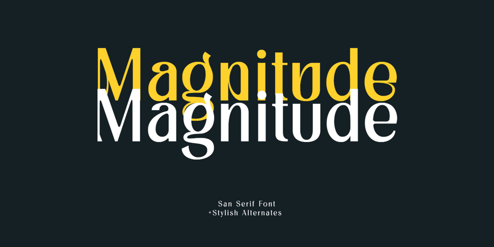 Magnitude font page