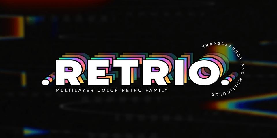 Retrio font page