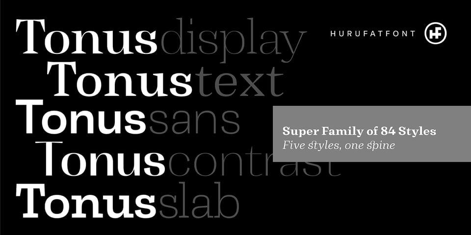 Tonus font page