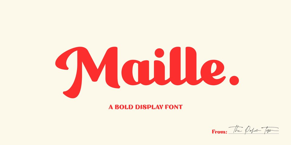 Maille font page