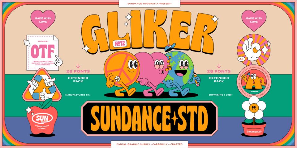 Gliker font page