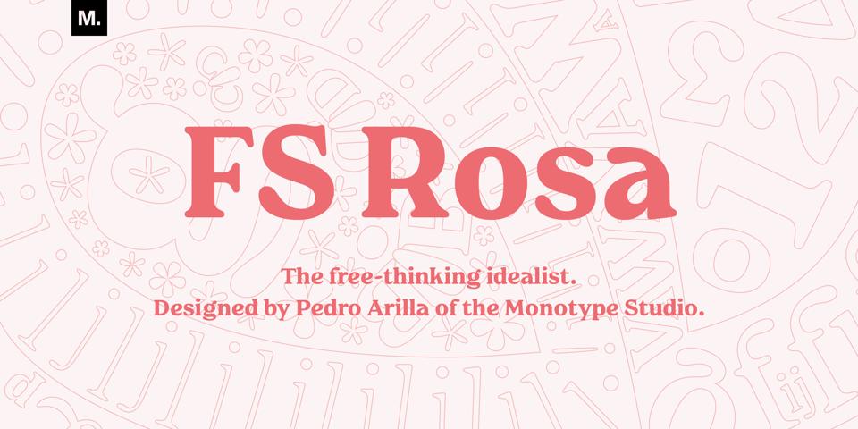 FS Rosa font page