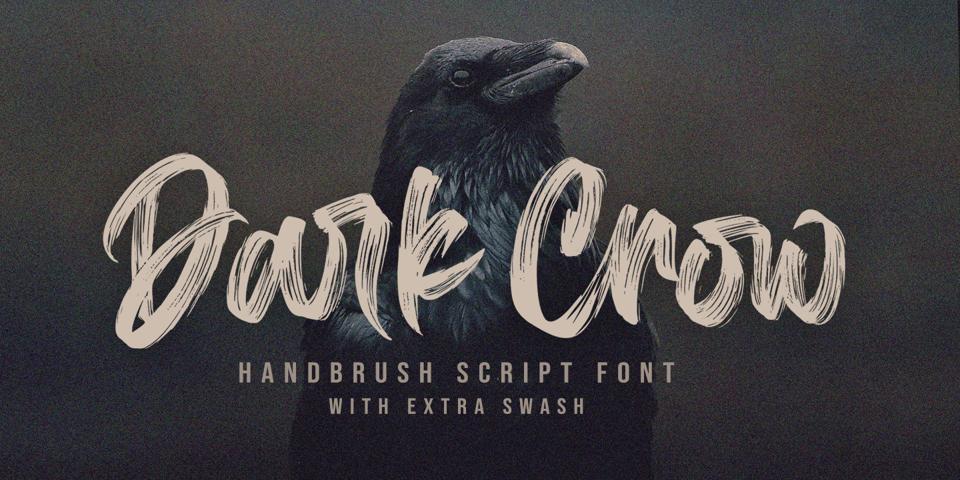 Dark Crow font page