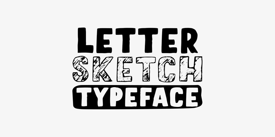 Letter Sketch font page