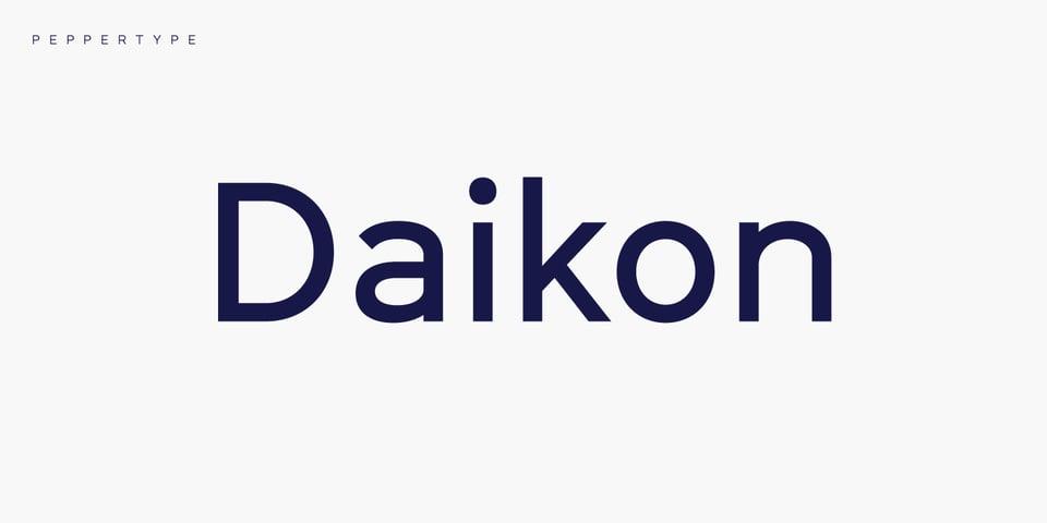 Daikon font page