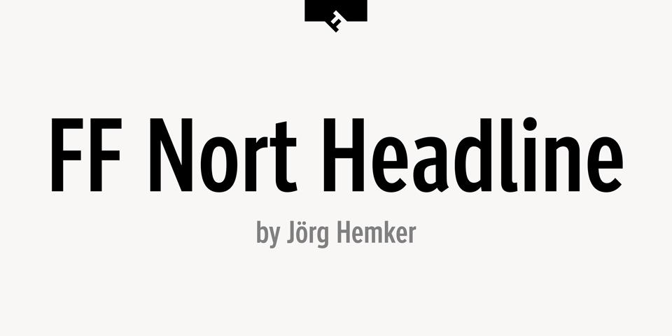 FF Nort Headline font page