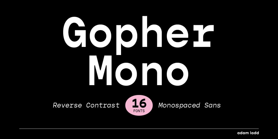 Gopher Mono font page