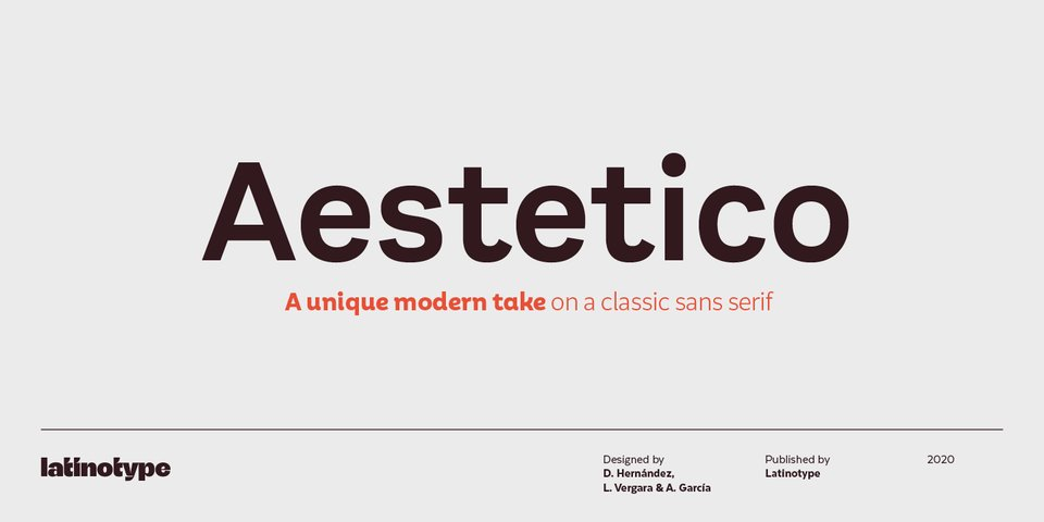 Aestetico font page