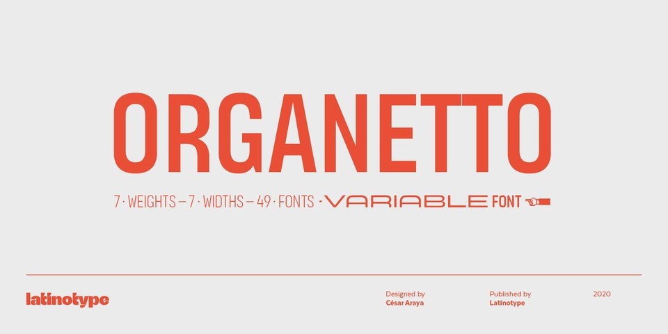 Organetto font page