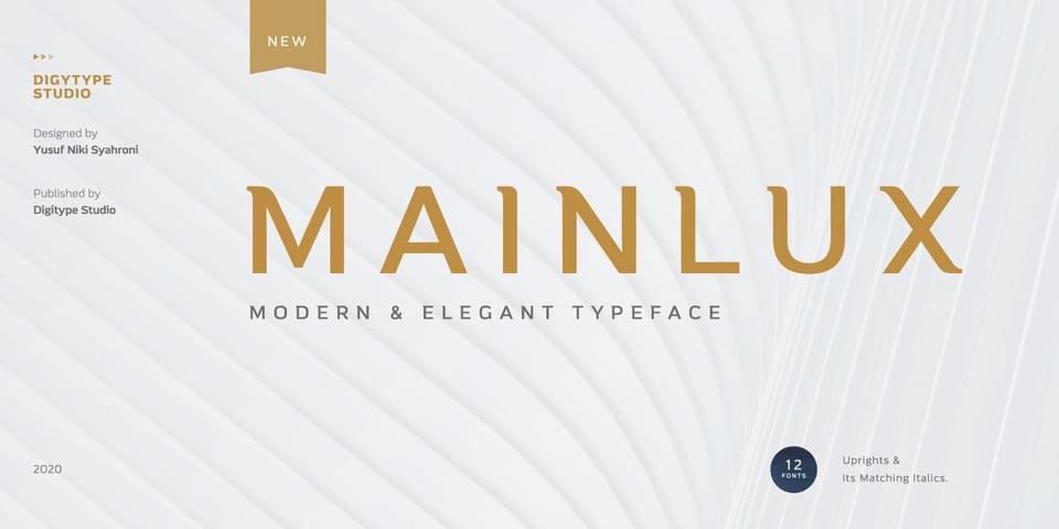 Mainlux font page