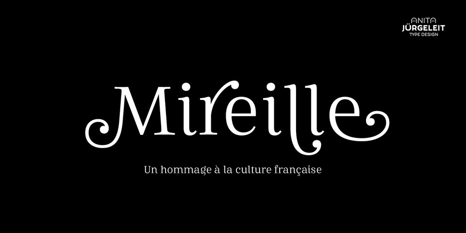 Mireille font page