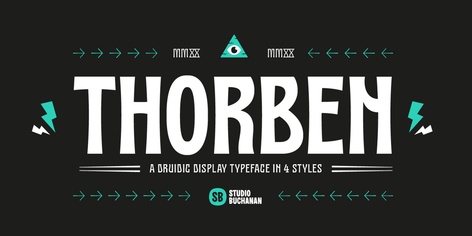 Thorben font page