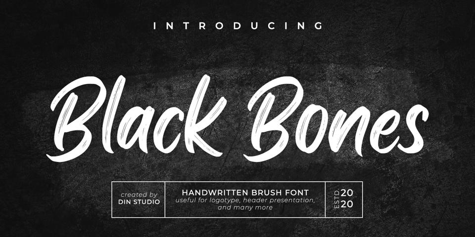 Black Bones font page