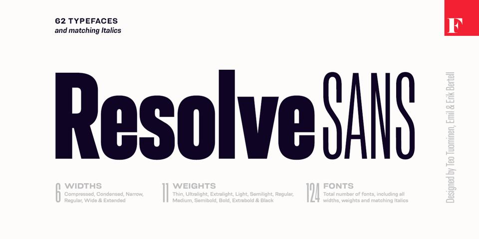 Resolve Sans font page