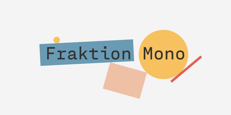 Fraktion Mono font page