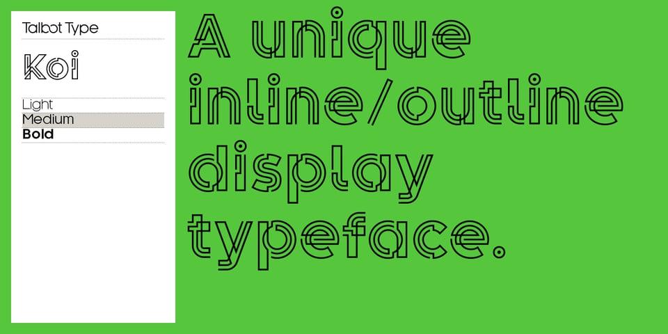 Koi font page