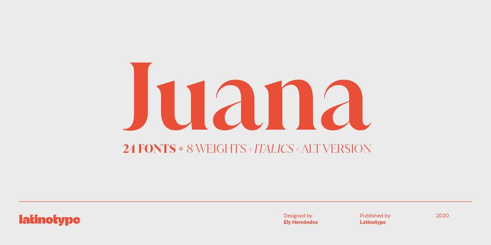 Juana font page