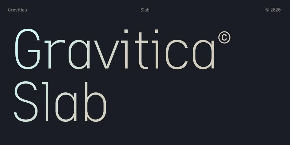 Gravitica Slab font page