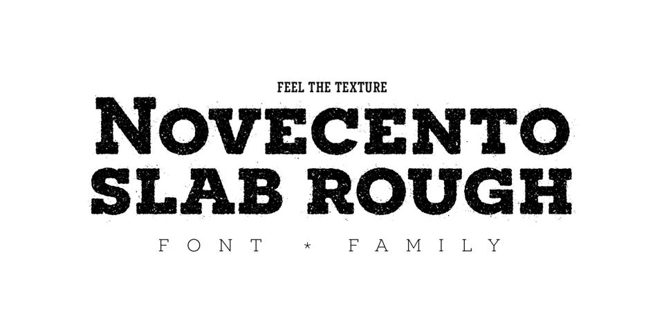 Novecento Slab Rough font page