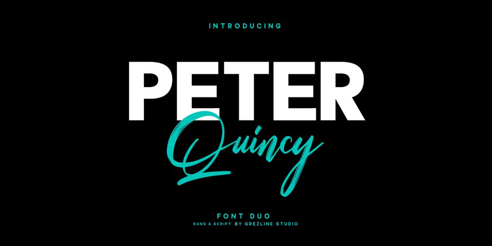 Peter Quincy font page