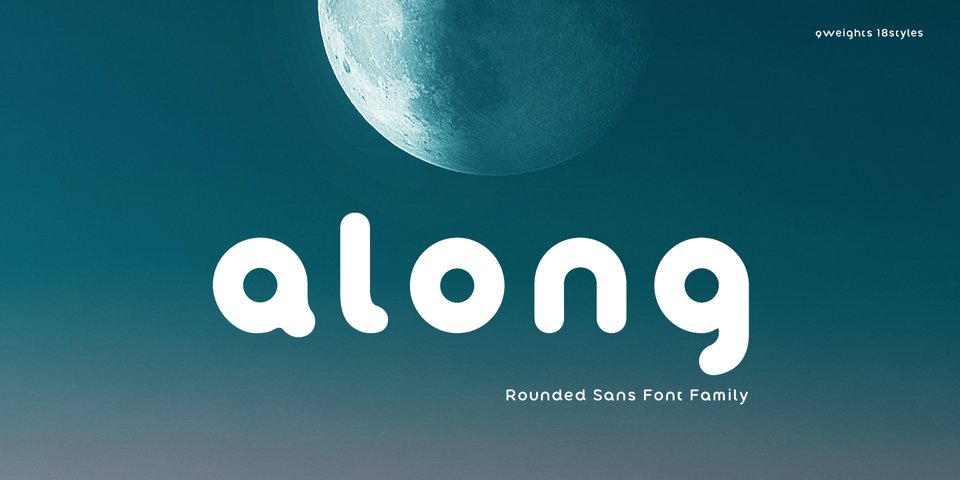 Along Sans Rounded font page