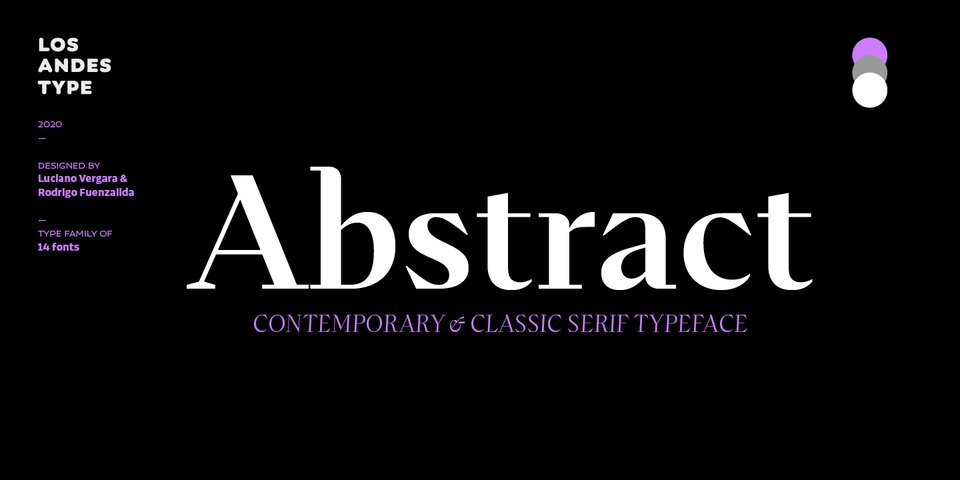 Abstract font page