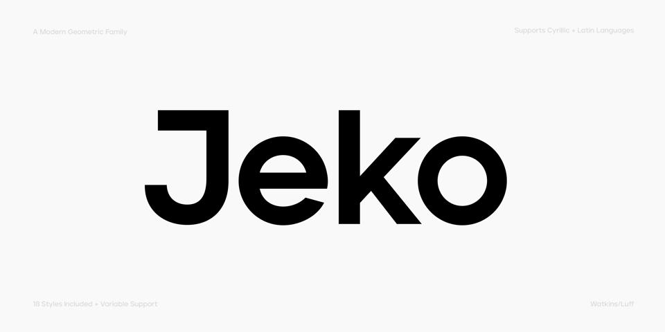 Jeko font page