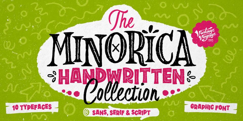 VVDS Minorica font page