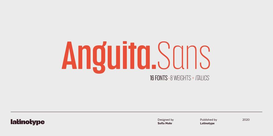Anguita Sans font page