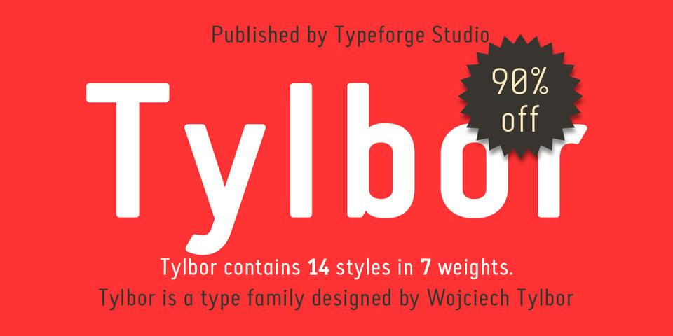 Tylbor font page