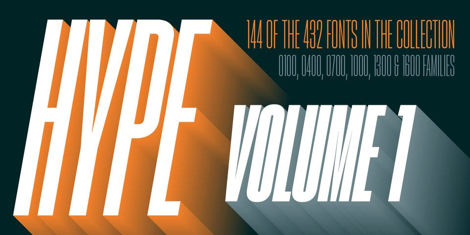 Hype Vol 1 font page