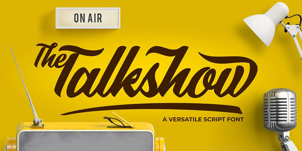 The Talkshow font page