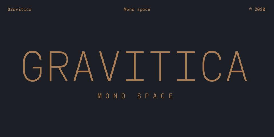 Gravitica Mono font page
