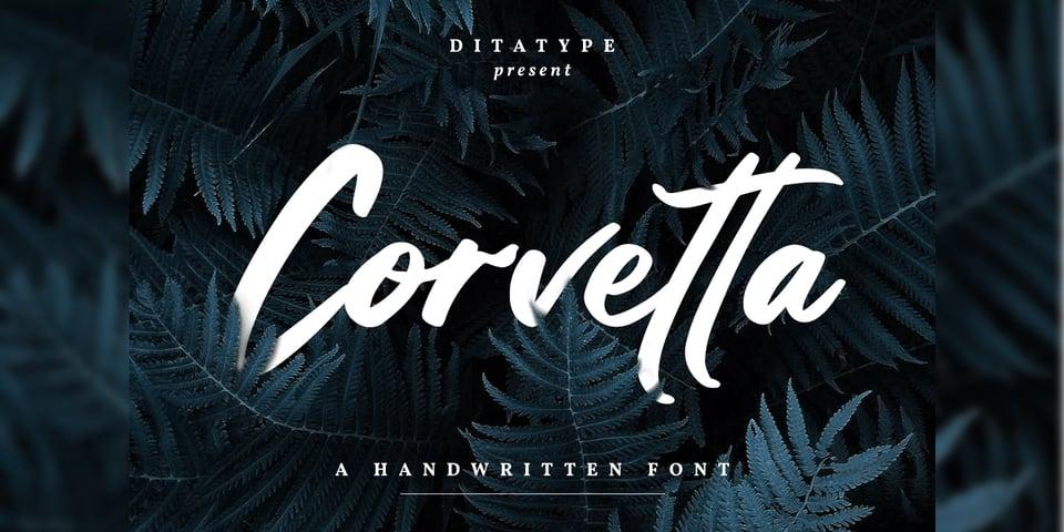 Corvetta font page